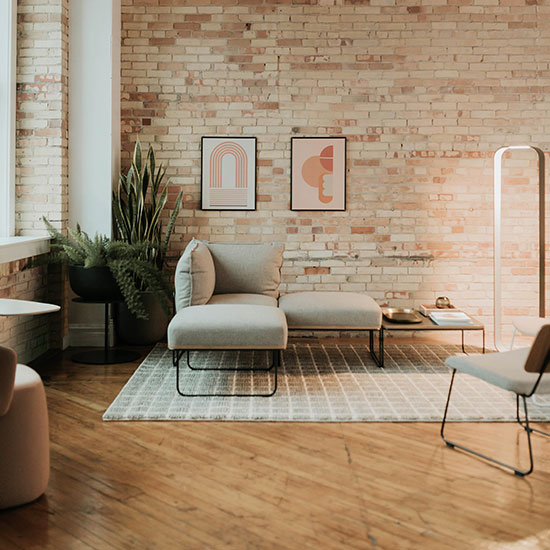 Hipster Brick Home Interior Furniture Style