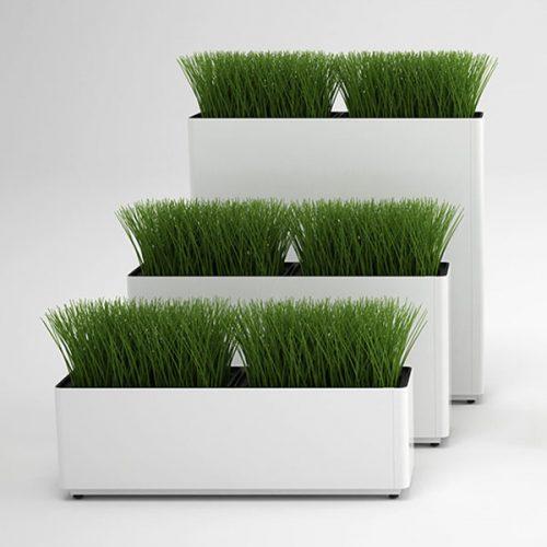 Narrow Rectangular Modern Planters