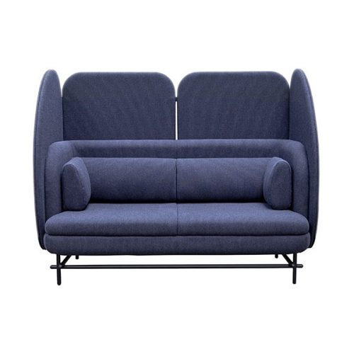 Frovi Navy Blue Home Booth Love Sofa