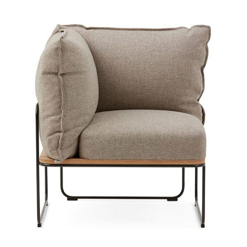 Beige Brown Modern Chair